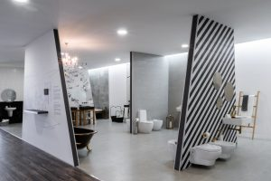 design de interiores de projeto comercial - showroom Santa Maria da feira