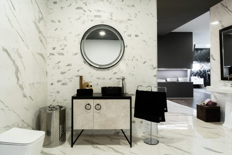 design de interiores de projeto comercial - showroom civil